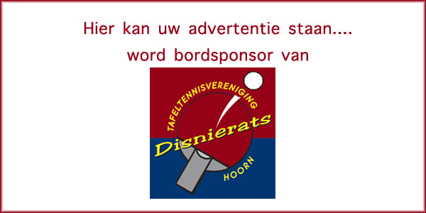 Word bordsponsor van Disnierats
